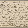 O'Connor, William D., APCS to. Mar. 24, 1889.