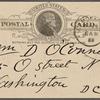 O'Connor, William D., APCS to. Mar. 28, 1889.