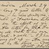 O'Connor, William D., APCS to. Mar. 29, 1889.