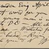 O'Connor, William D., APCS to. Apr. 2, 1889.