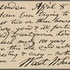 O'Connor, William D., APCS to. Apr. 8, 1889.