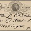 O'Connor, William D., APCS to. Apr. 14, 1889.