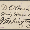 O'Connor, William D., ALS to. May 7, 1882.