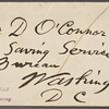 O'Connor, William D., ALS to. May 17, 1882.