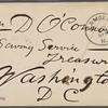 O'Connor, William D., ALS to. Dec. 17, 1882.