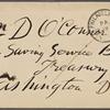 O'Connor, William D., ALS to. Feb. 19, 1883.