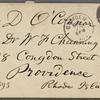 O'Connor, William D., ALS to. Mar. 25, 1883.