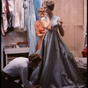 Julie Andrews being fitted for her costume for the stage production Camelot.