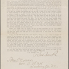 Bucke, Richard Maurice, Circular letter asking for information about WW, signed, addressed to [Ellen M.] O'Connor. Jun. 10, 1880.