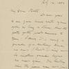 Burroughs, John, ALS to [J. J.] Piatt. Jul. 14, 1892.