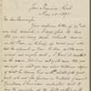 Eldridge, C. W. ALS to John Burroughs.  May 10, 1892.