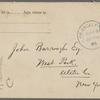 Eldridge, C. W. ALS to John Burroughs.  Jul. 23, 1896.