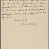 Eldridge, C. W. ALS to D. Lockwood.  [1892].
