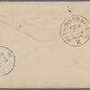 Eldridge, C. W. ALS to William D. O'Connor.  Feb. 19, [1884].
