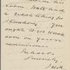 Ashton, J. H., ALS to C. W. Eldridge. [1902?].