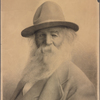 Wilhelm, R. Original crayon portrait of Walt Whitman, signed (RW) and dated.