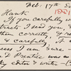 Stafford, Harry, APCS to. Feb. 17, [1881].