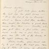 Whitman, Louisa Van Velsor, mother, ALS to. Apr. 28, 1866.