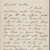 Whitman, Louisa Van Velsor, mother, ALS to. Nov. 23, 1866.