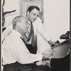 Richard Rodgers and Stephen Sondheim in rehearsal for the stage production Do I Hear a Waltz?