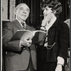 Producer/composer Richard Rodgers and Elizabeth Allen during rehearsal for the stage production Do I Hear a Waltz?