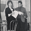 Elizabeth Allen and Sergio Franchi in rehearsal for the stage production Do I Hear a Waltz?