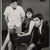 Eddie Foy Jr., Lesley Ann Warren and Elliott Gould in rehearsal for the stage production Drat the Cat!