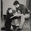 Lesley Ann Warren and Elliott Gould in rehearsal for the stage production Drat the Cat!