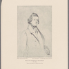 William Makepeace Thackeray 1811-1863. From a drawing by D. Maclise about 1840.