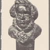 Thackeray, William M. Portrait bust in bronze by Percy Fitzgerald. c. 1860. Charles Rare Books, Oak Lawn, Hildenborough, Kent, Engl. Sept. 1964.