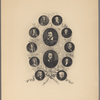 The Grolier Club MCMI. [Center, from top, then clockwise from upper right:] Ben Johnson. Alfred Tennyson. William Whitehead. Thomas Warton. Henry James Pye. Robert Southey. William Wordsworth. Colley Gibber. Nicholas Rowe. Thomas Shadwell. John Dryden. William Davenant.