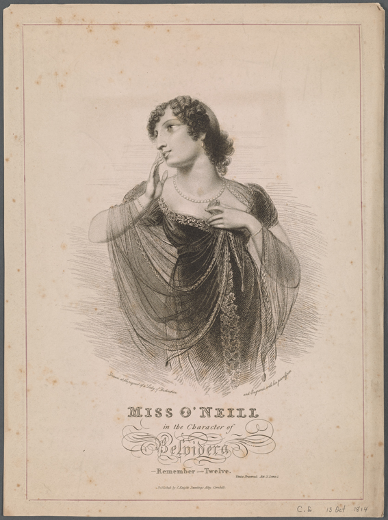 Fascinating Historical Picture of Eliza ONeill on 10/13/1814