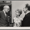 Harry Kurnitz, Florence Henderson, and Jose Ferrer in rehearsal for the stage production The Girl Who Came to Supper