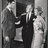 Joe Layton, Jose Ferrer, and Florence Henderson in rehearsal for the stage production The Girl Who Came to Supper