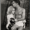 Paula Wayne and Sammy Davis, Jr. in rehearsal for the stage production Golden Boy