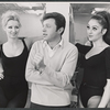 Steve Lawrence and unidentified dancers in rehearsal for the stage production Golden Rainbow