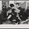 Eydie Gorme, Steve Lawrence, Antony De Vecci [?], and Diana Saunders in rehearsal for the stage production Golden Rainbow