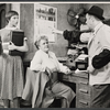 Carol Haney, Rita Shaw and Eddie Foy Jr. in the stage production of The Pajama Game