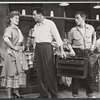 Janis Paige, John Raitt and unidentified performers in the stage production of The Pajama Game