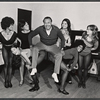 Cab Calloway [center] with dancers in rehearsal for the 1973 Broadway revival of The Pajama Game