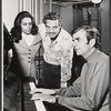 Barbara McNair, Hal Linden and Richard Adler in rehearsal for the 1973 Broadway revival of The Pajama Game