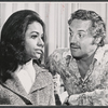 Barbara McNair and Hal Linden in a publicity pose for the 1973 Broadway revival of The Pajama Game