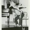 George Balanchine with, Mourka, his cat.