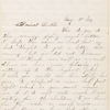Cunningham, Helen S., ALS to Oscar Cunningham. May 15, 1864.