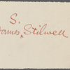 Stilwell, Julia, on behalf of James S. Stilwell, ALS to WW. Oct. 13, 1863.