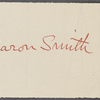 Smith, Aaron, ALS to WW. May 14, 1864.