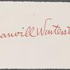 Winterstein, Manvill, ALS to WW. Mar. 1, 1875.