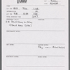 Stage manager's daily reports, 1989 - 1990