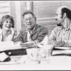 Gretchen Wyler, Jack Gilford and Hector Elizondo in rehearsal for the stage production Sly Fox