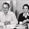 George C. Scott and Trish Van Devere in rehearsal for the stage production Sly Fox